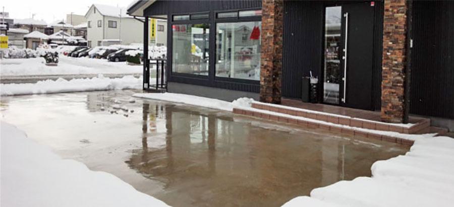 駐車場融雪 路面融雪 福井
